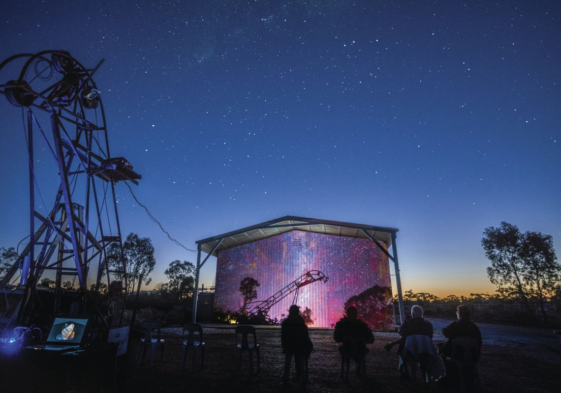 open air cinema at the Australian Opal Centre