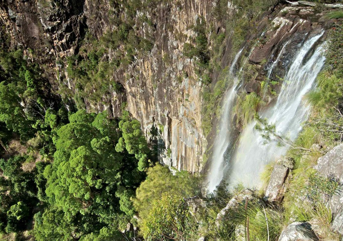 Stunning view of Minyon Falls in Nightcap National Park