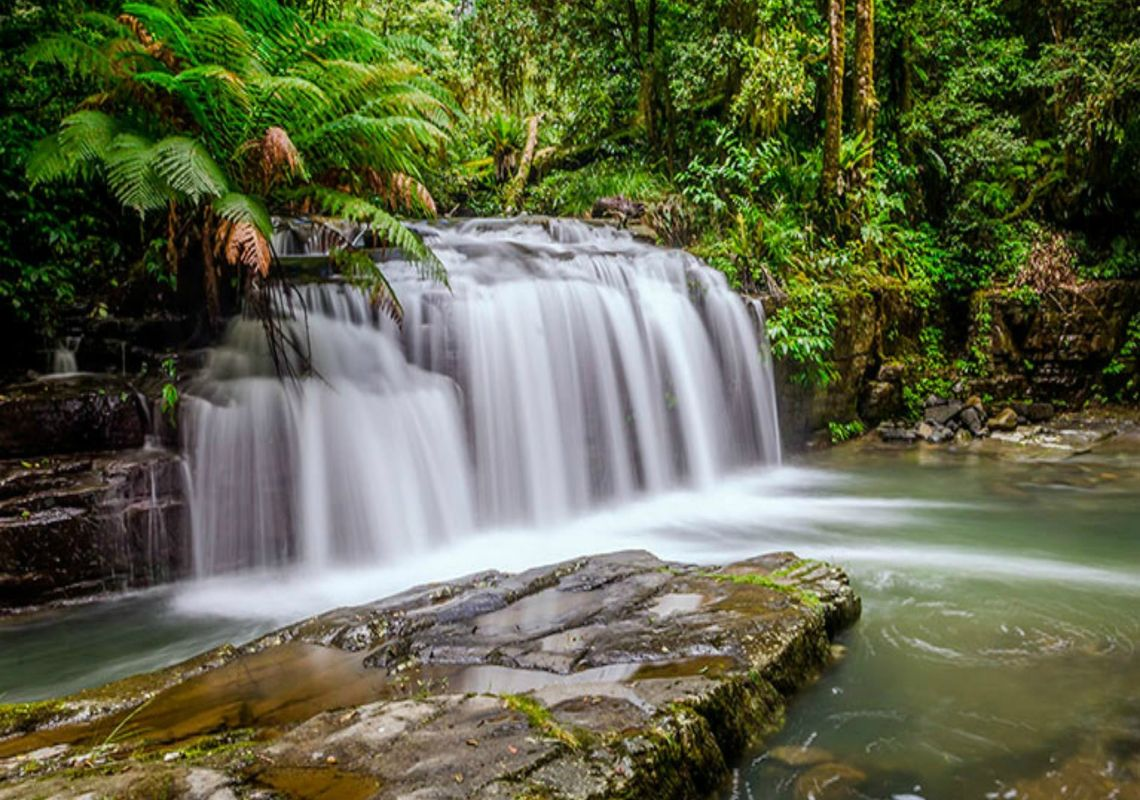 Beautiful waterfall near Rocky Crossing, Barrington Tops National Park, NSW, Australia