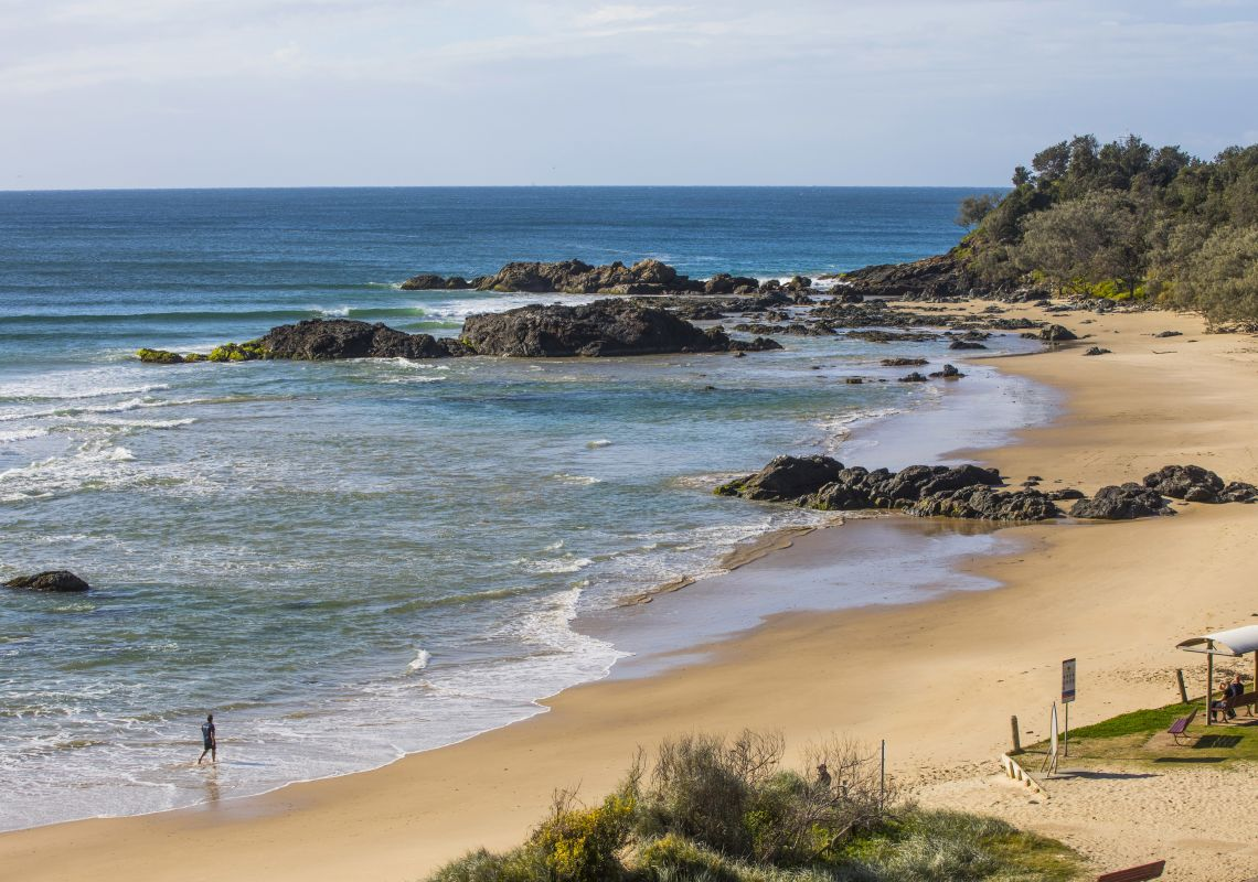 View from Gaol Point Lookout of Town Beach in Port Macquarie, NSW North Coast