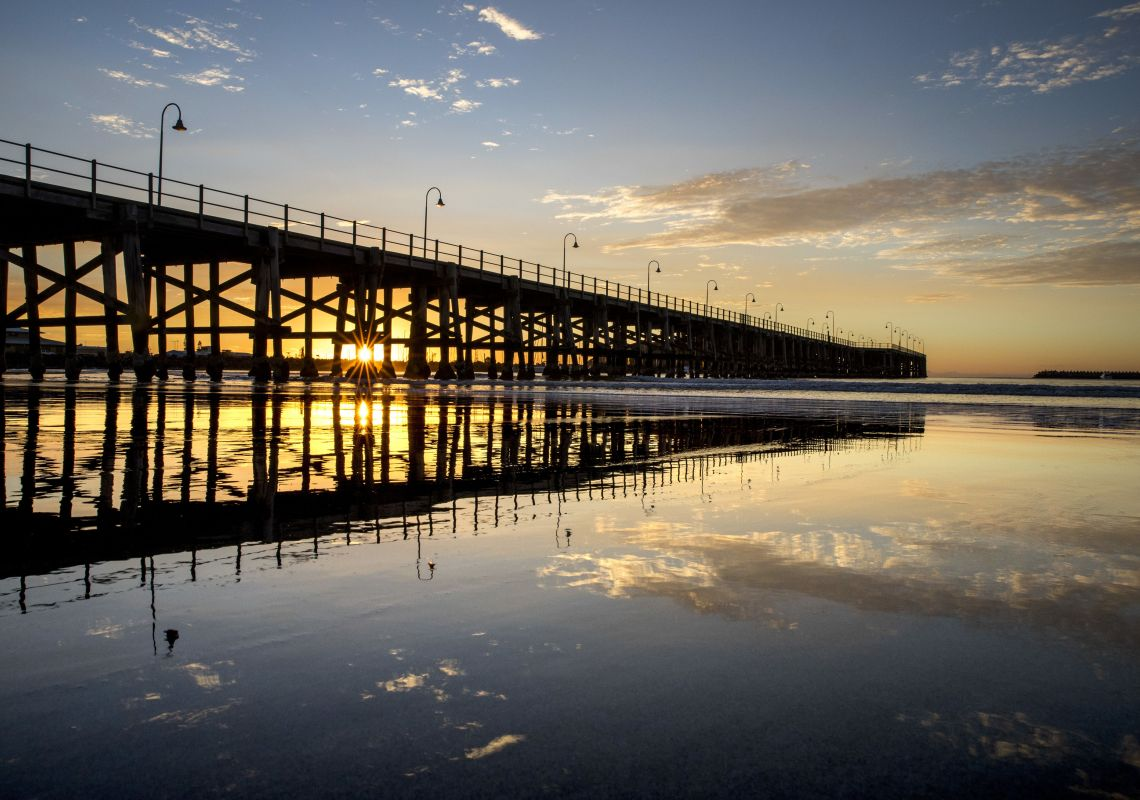 Sunrise at the heritage pier, Jetty Beach, Coffs Harbour