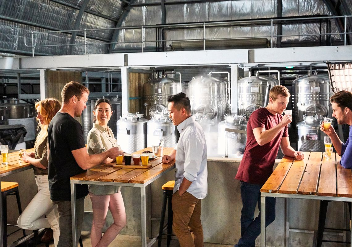 Friends enjoying the Ironbark Brewhouse in the Hunter Valley