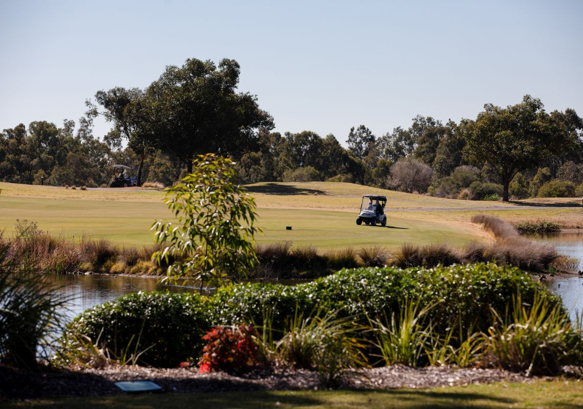 Golf Course at Oaks Cyprus Lakes Resort in the Hunter Valley