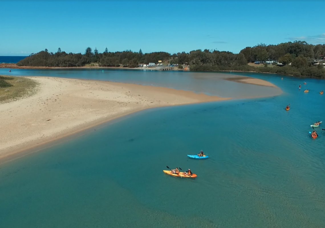 Kayaking at Tuross Head in the Eurobodalla region