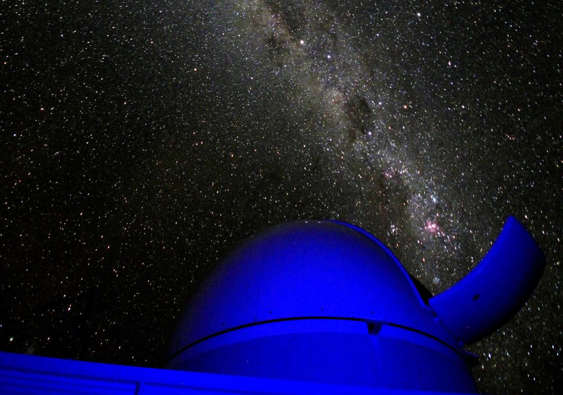 Star-studded night sky above the Milroy Observatory, Coonabarabran