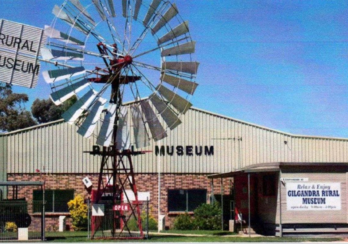 Historical buildings on display at Gilgandra Rural Museum, NSW