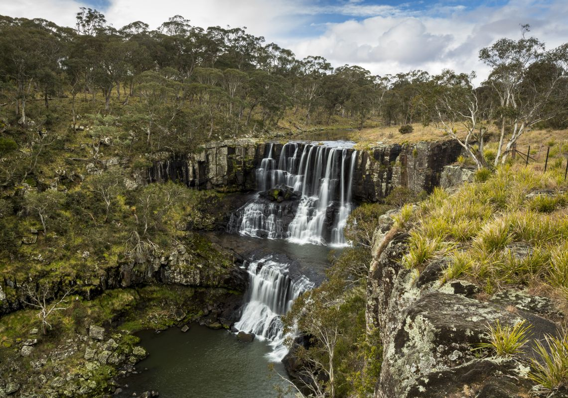 The cascading Ebor Falls, Guy Fawkes River National Park