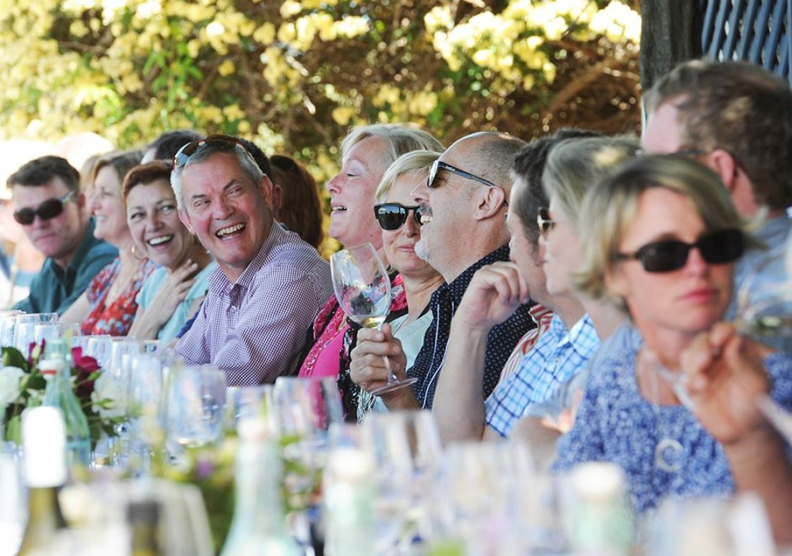 Diners enjoying a long lunch, Mudgee Wine and Food Festival