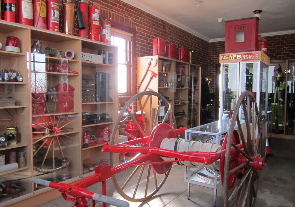 Firefighting equipment in the Coolamon Fire Museum, Riverina, NSW