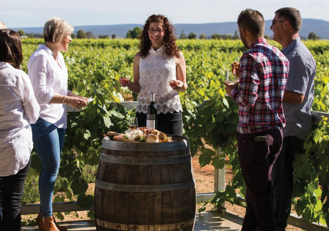 Group tasting with Bella Vita Tours