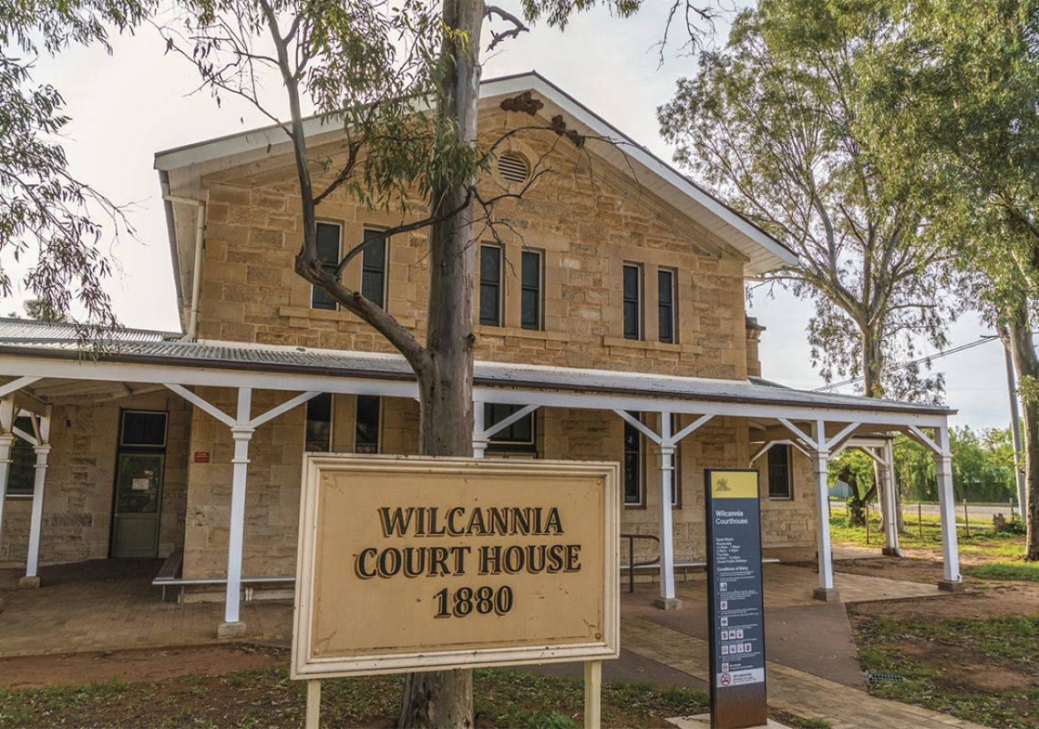 The historic sandstone Wilcannia Court Couse built in 1880