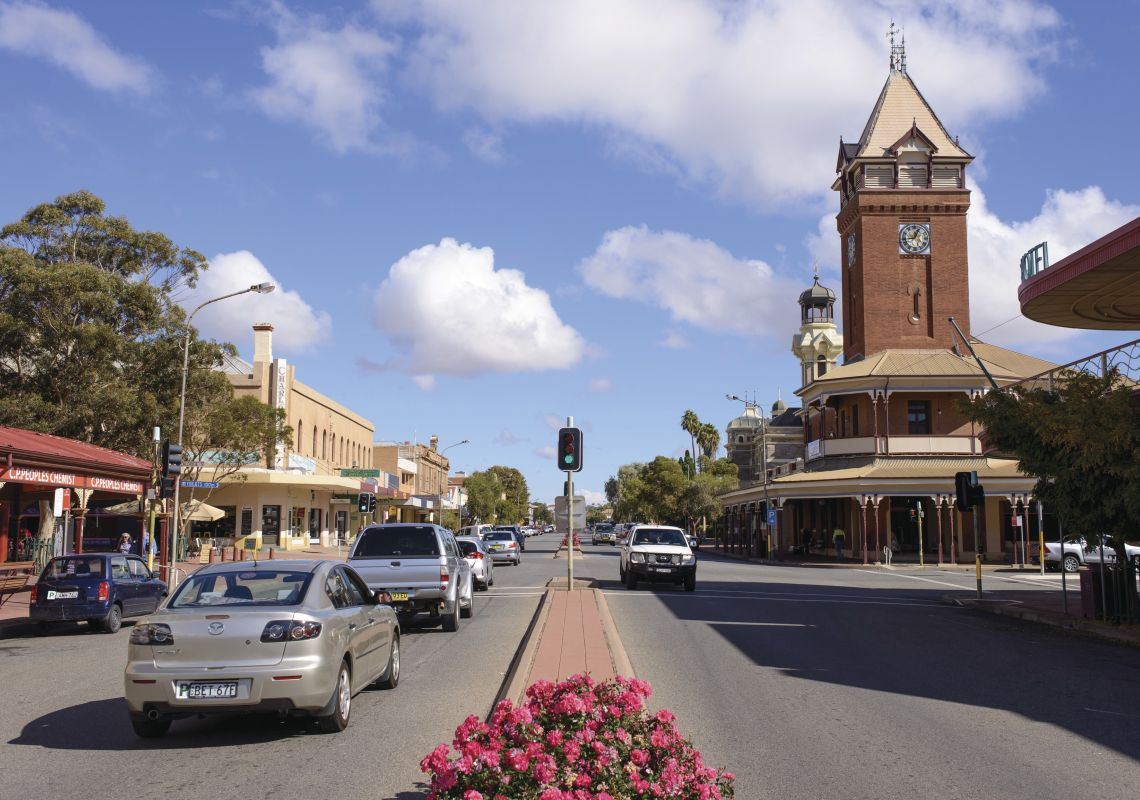 Heritage buildings line the streets of Broken Hill