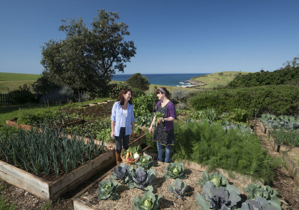 Women enjoying a day learning about sustainable agriculture at Buena Vista Farm, Gerringong