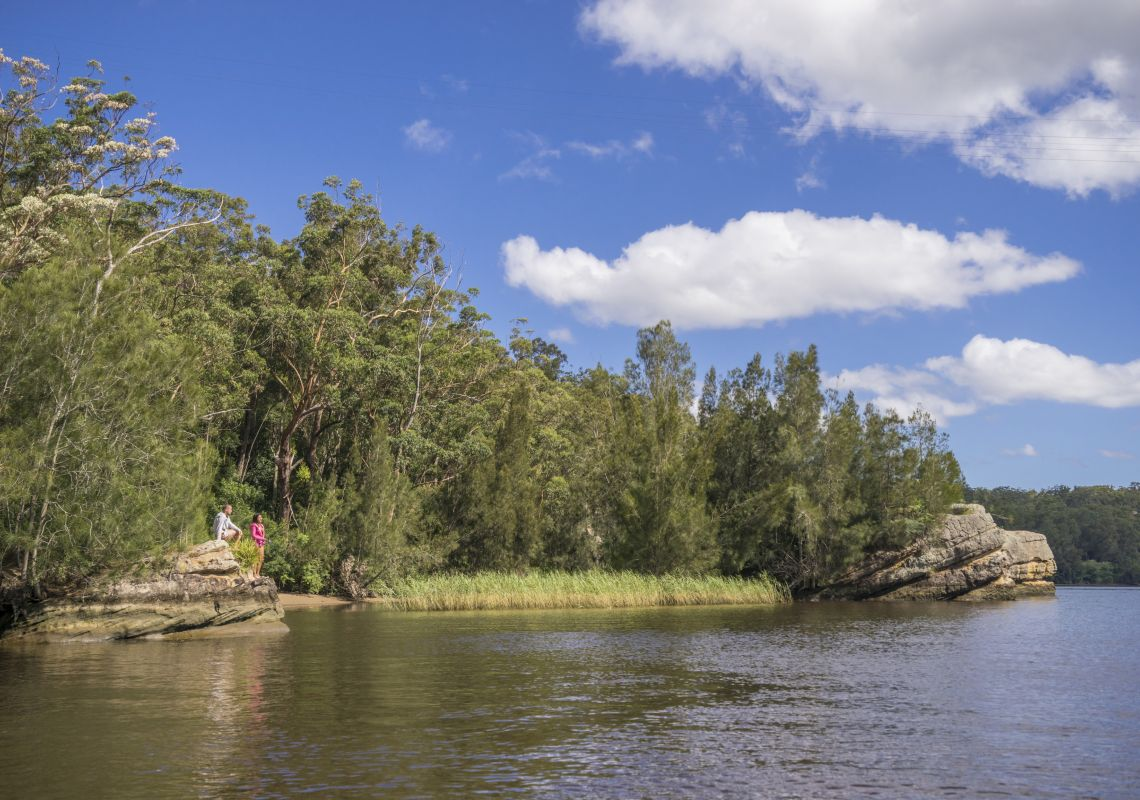 Couple enjoying a day of fishing on the Shoalhaven River near Nowra