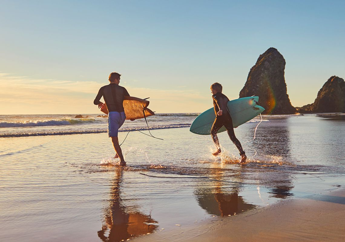 Surfing at Glasshouse Rocks in Narooma, Batemans Bay and Eurobodalla, South Coast