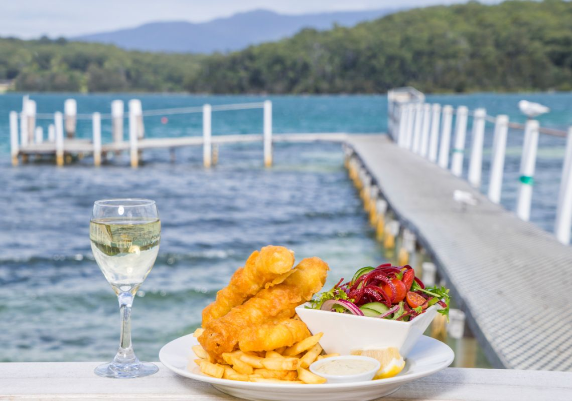 Food and drink with a view at Quarterdeck Cafe, Narooma, South Coast