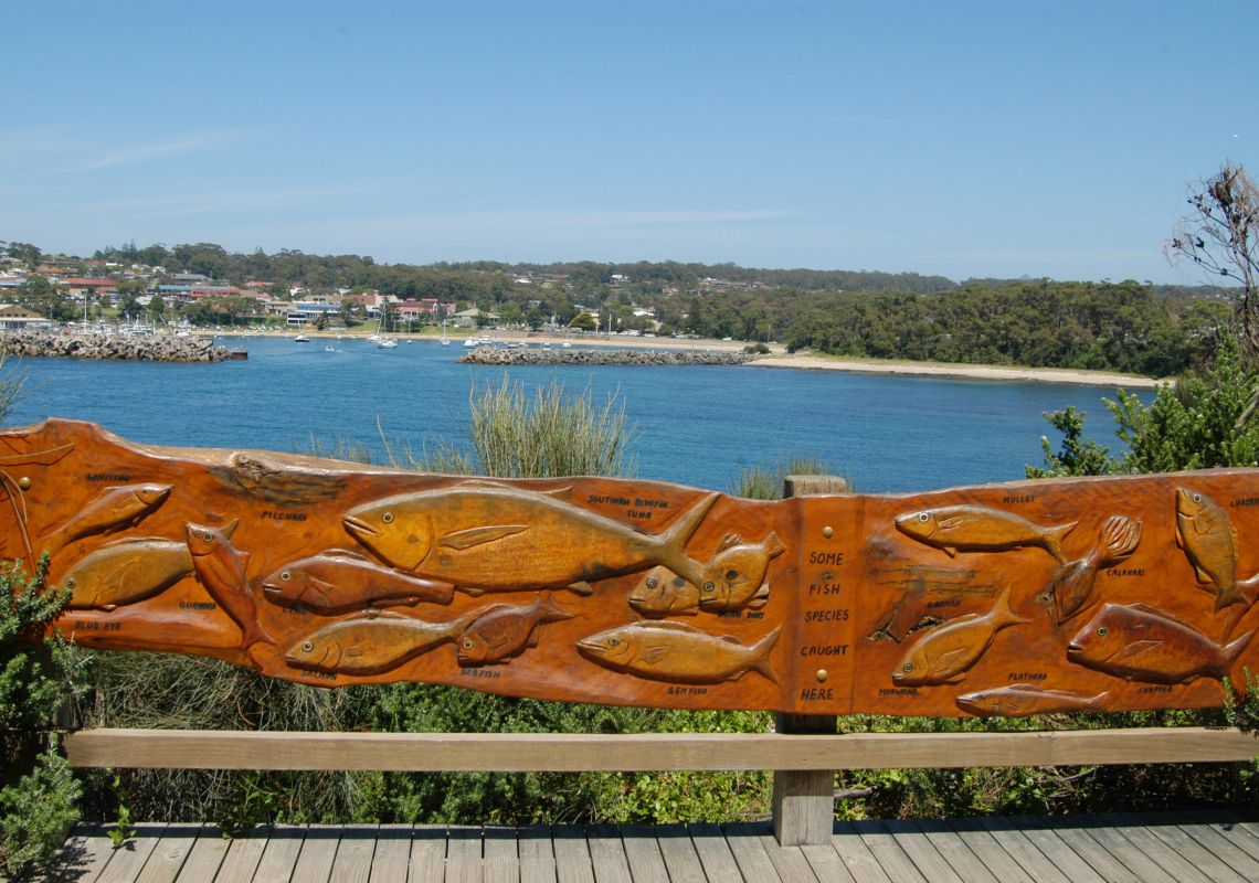 View of Ulladulla from the 'One track for All' walk