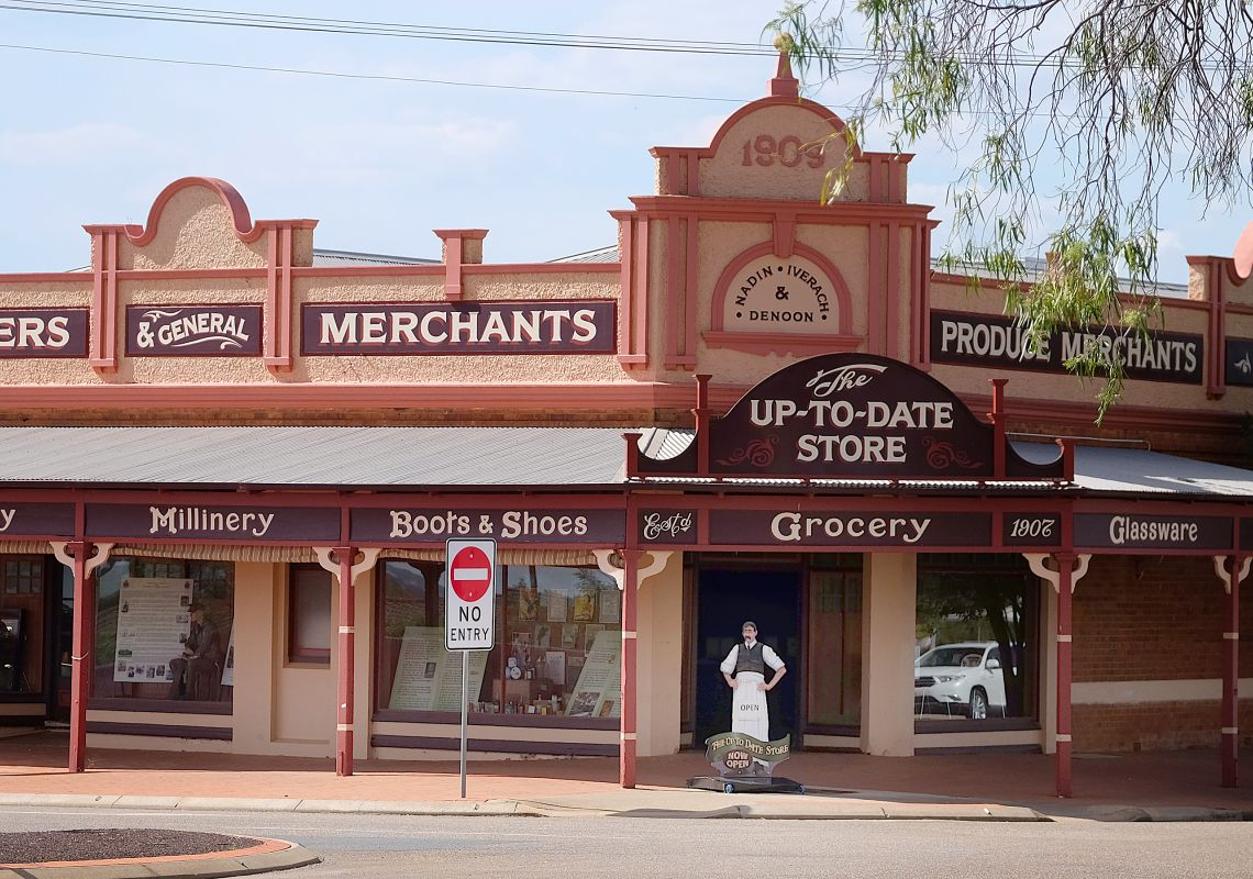 The heritage-listed Up-To-Date Store, Coolamon, NSW