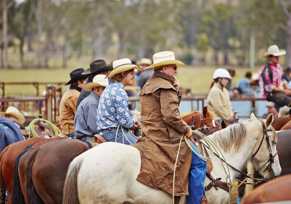 Cowboys at The Annual Gresford Rodeo & Campdraft, Dungog Festival, Dungog
