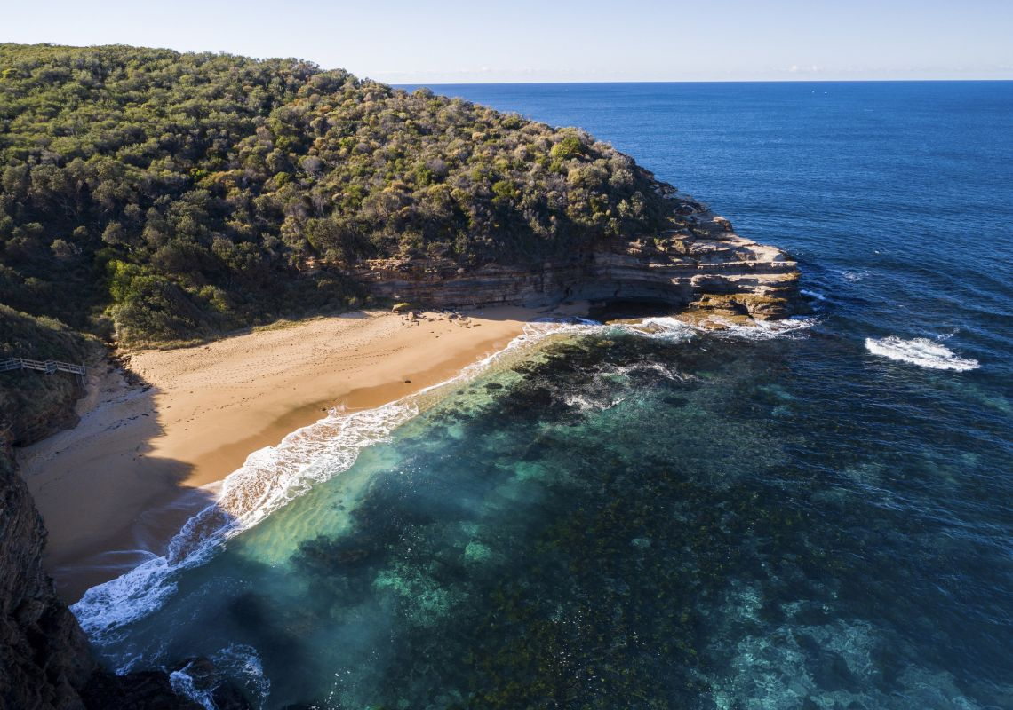 Scenic coastal views from Bouddi National Park in Bouddi , Central Coast