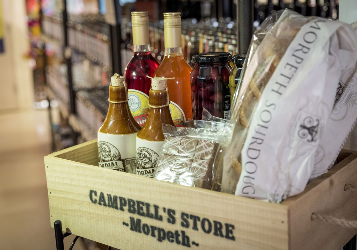 Local food and drink produce available for sale at Campbell's Store in Morpeth, Hunter Valley