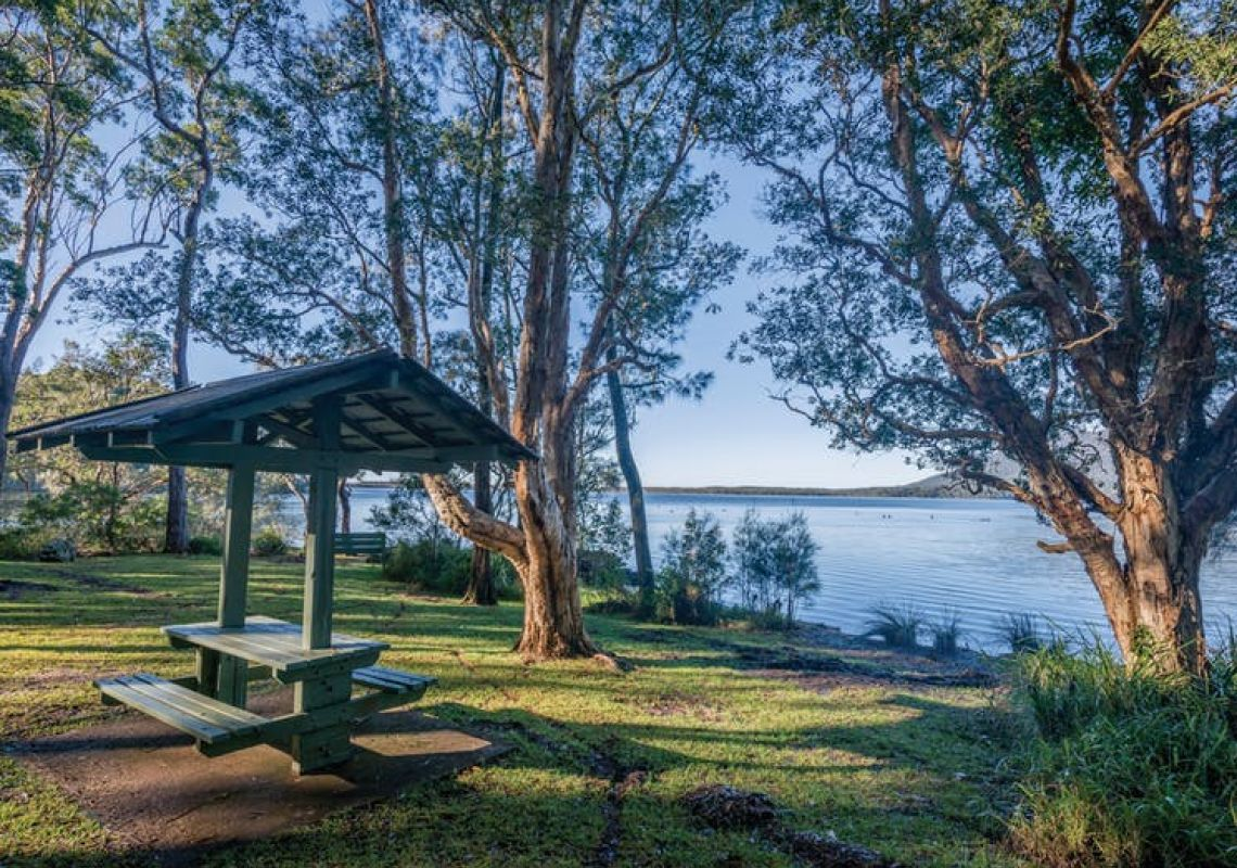 Queens Lake picnic area in North Haven, Port Macquarie