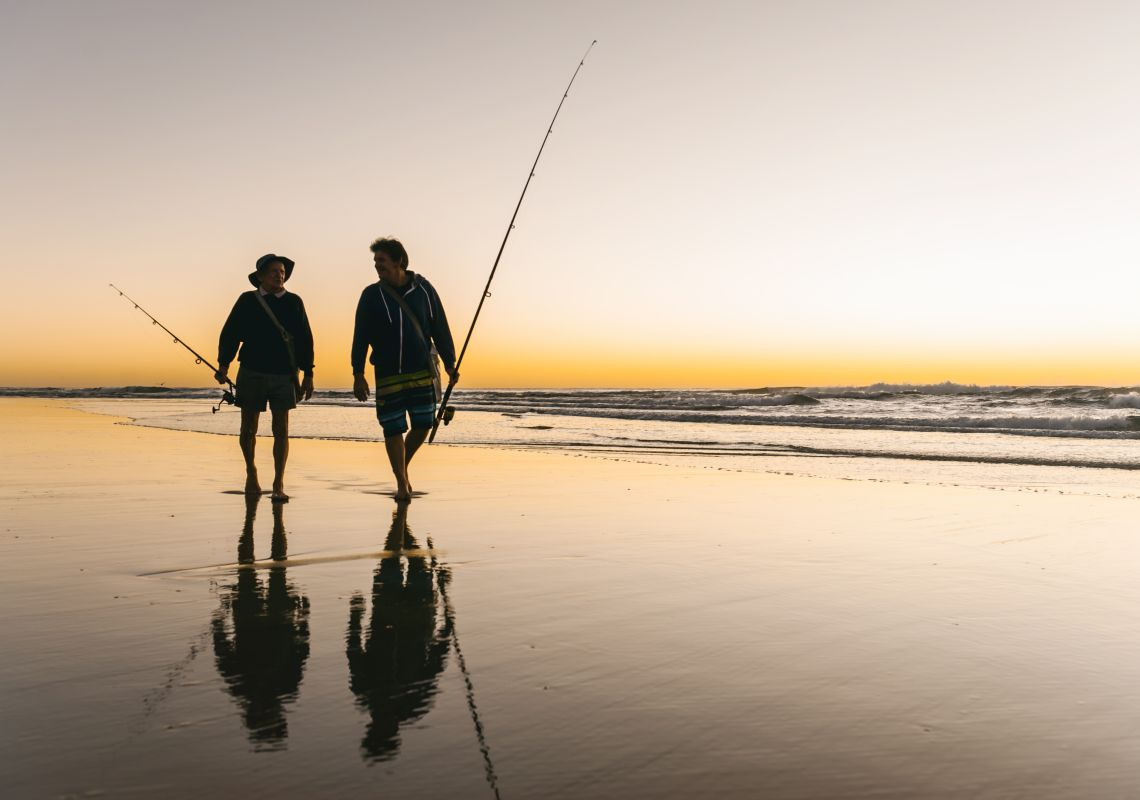 Fishing in Iluka Beach, Clarence Valley, North Coast
