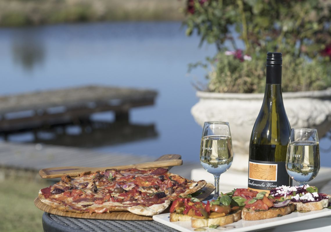 Food and wine available from Tumbarumba Wines Escape, Snowy Mountains