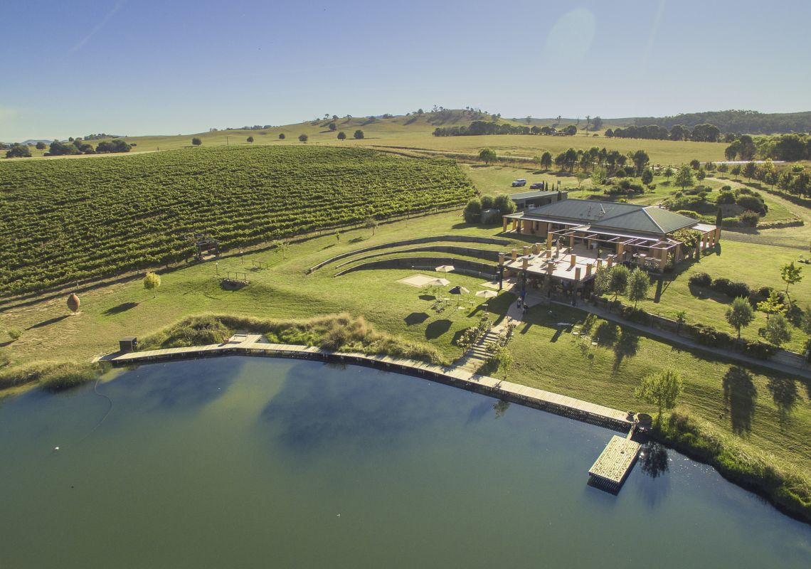 Scenic aerial views overlooking Tumbarumba Wines Escapes