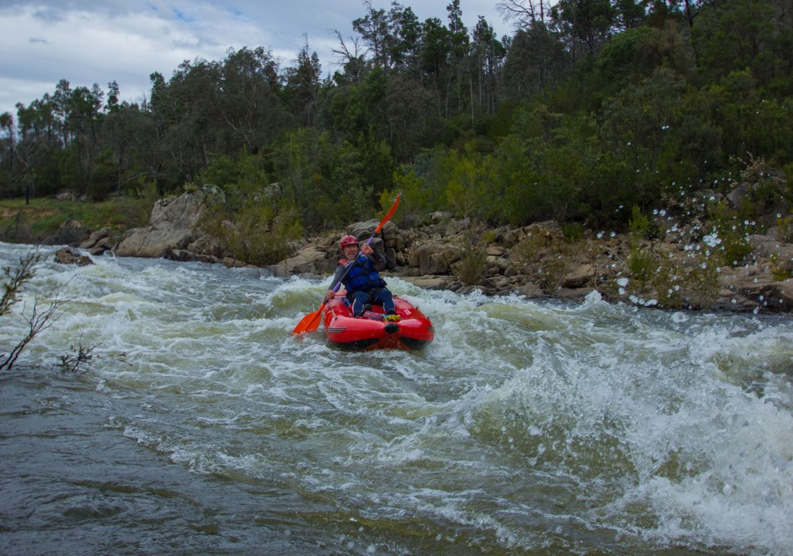 Whitewater kayaking on the Snowy River 1 day trip with Alpine River Adventures, Cooma