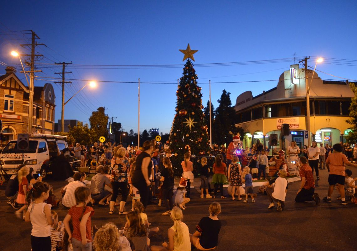 Casino CBD at the Richmond Valley Christmas Street Party in Casino, Lismore Area