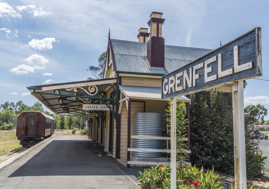 The Historic Railway Station in Grenfell, Cowra