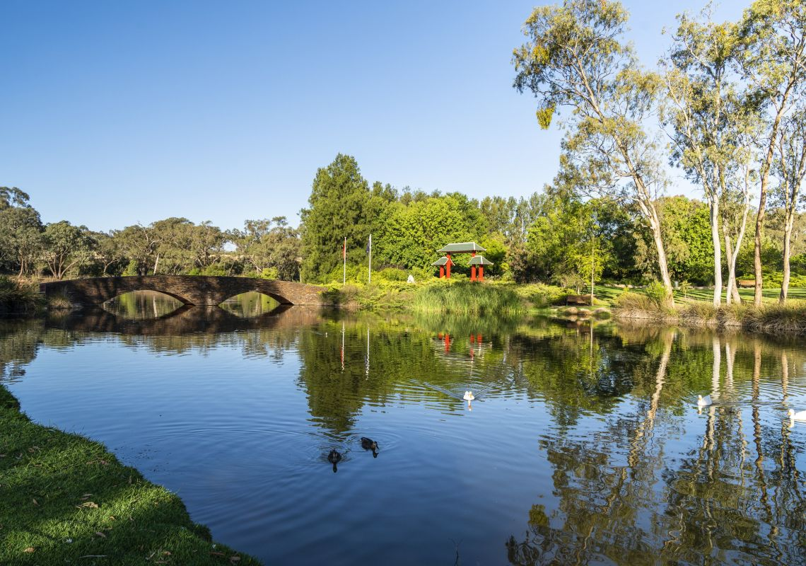The Pool of Tranquillity in Lambing Flat Chinese Tribute Garden in Young, Country NSW