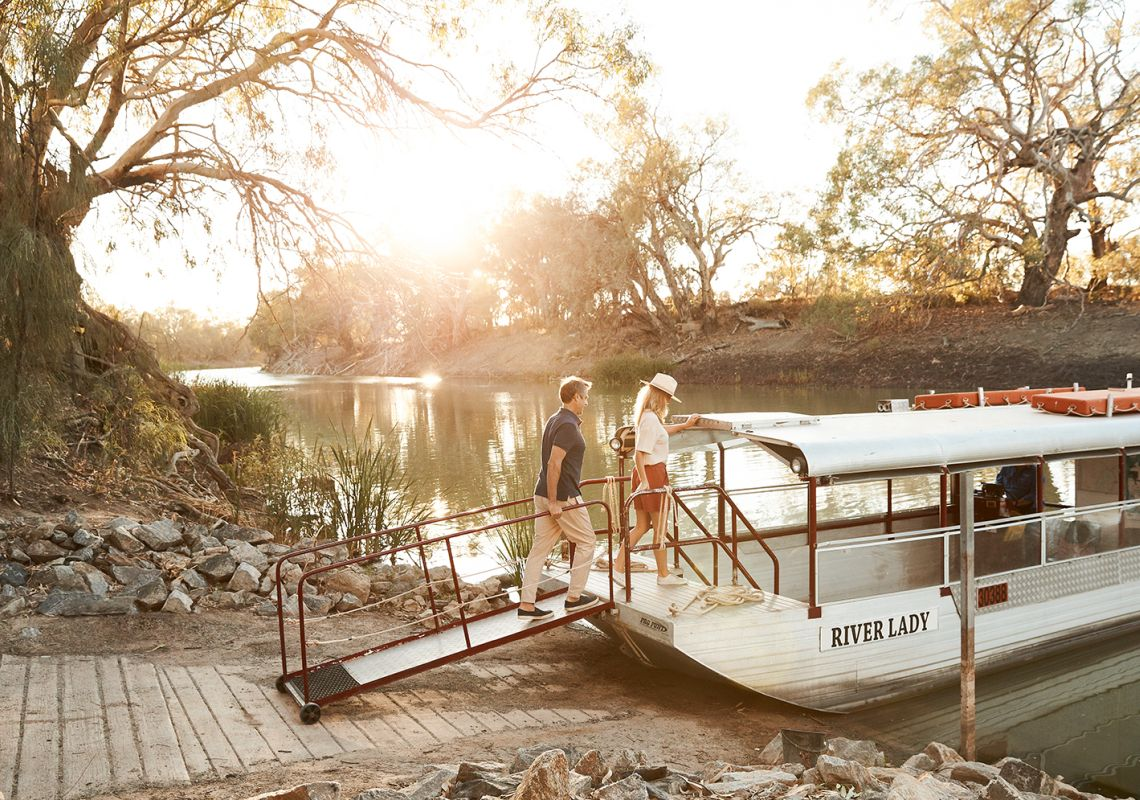 Menindee River Lady Cruise in Broken Hill, Outback NSW