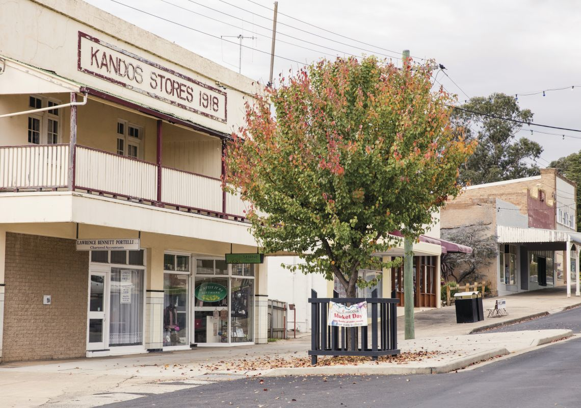 Historic country buildings in the country town of Kandos, Mudgee