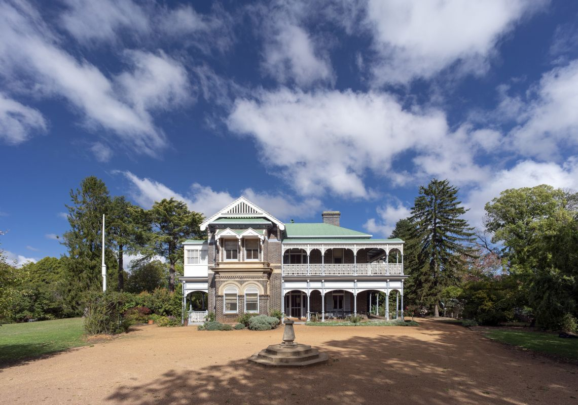The historic Saumarez Homestead property in Armidale, Country NSW