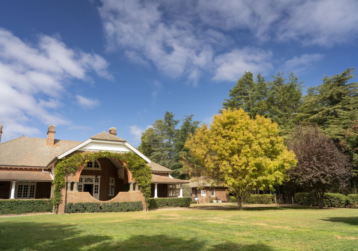 The scenic grounds of the Petersons Armidale Winery & Guesthouse in Armidale, Country NSW