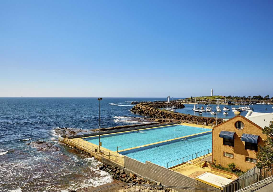 The scenic oceanside Continental Pool in Wollongong, Illawarra