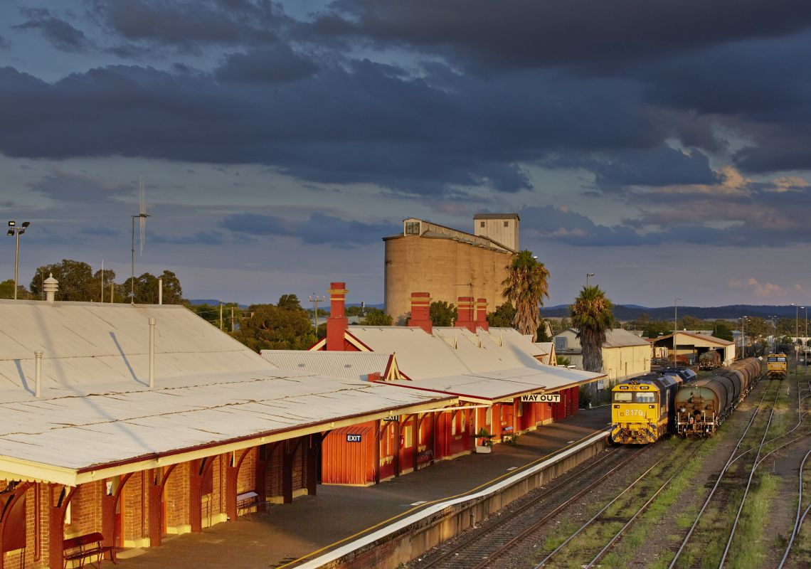 Parkes Railway Station in Parkes, Country NSW