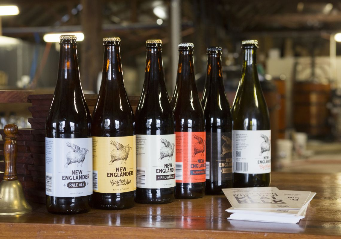 Beers available from the New England Brewing Co., Uralla