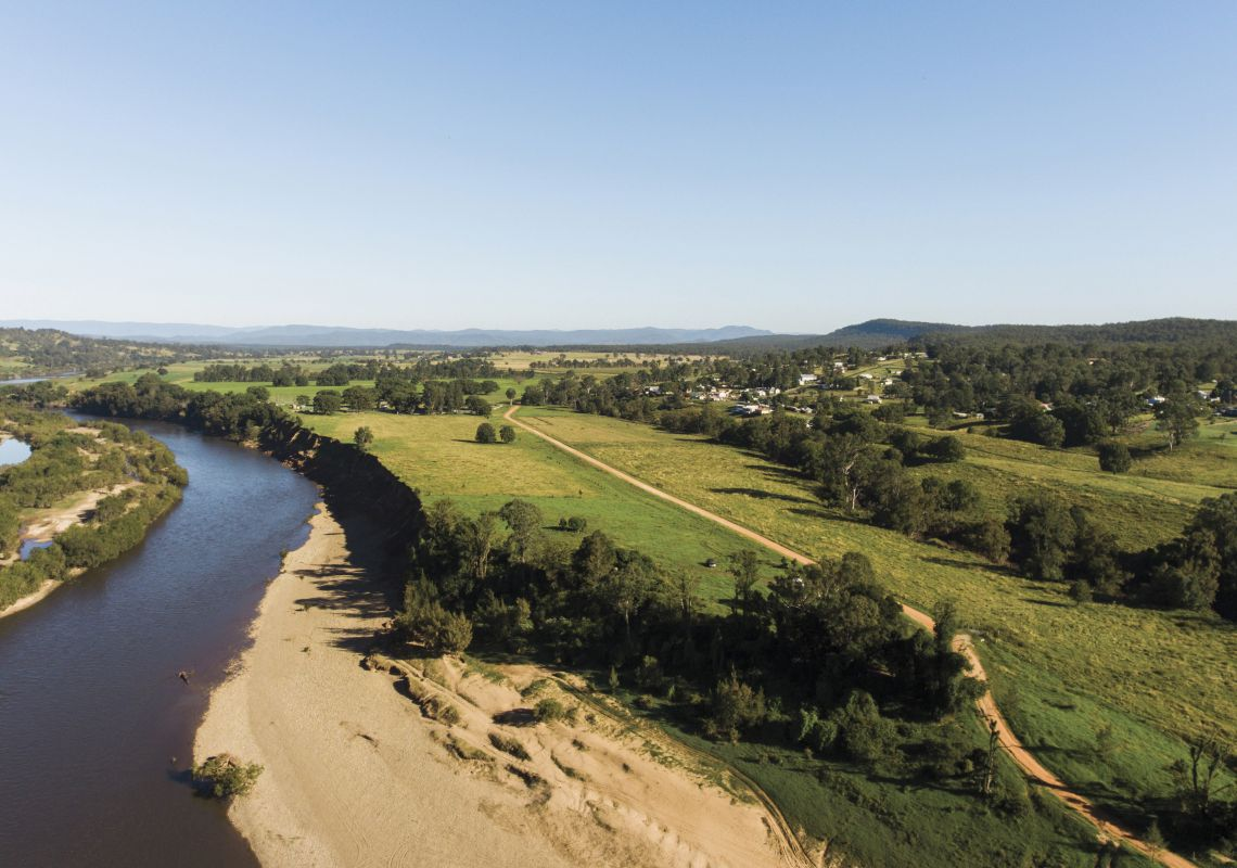 Scenic country views across the Clarence River and Valley, North Coast