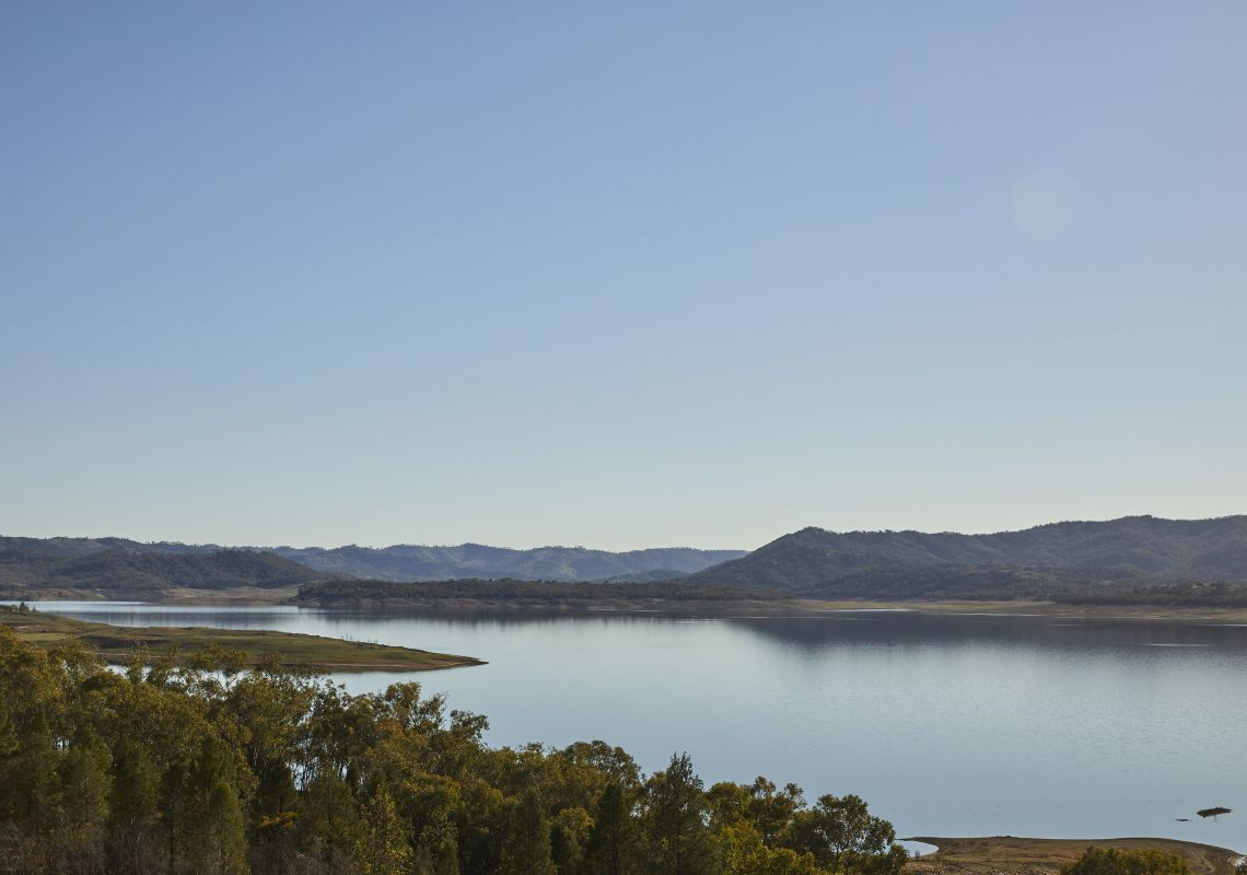 Scenic views across Lake Burrendong, Mumbil, Country NSW