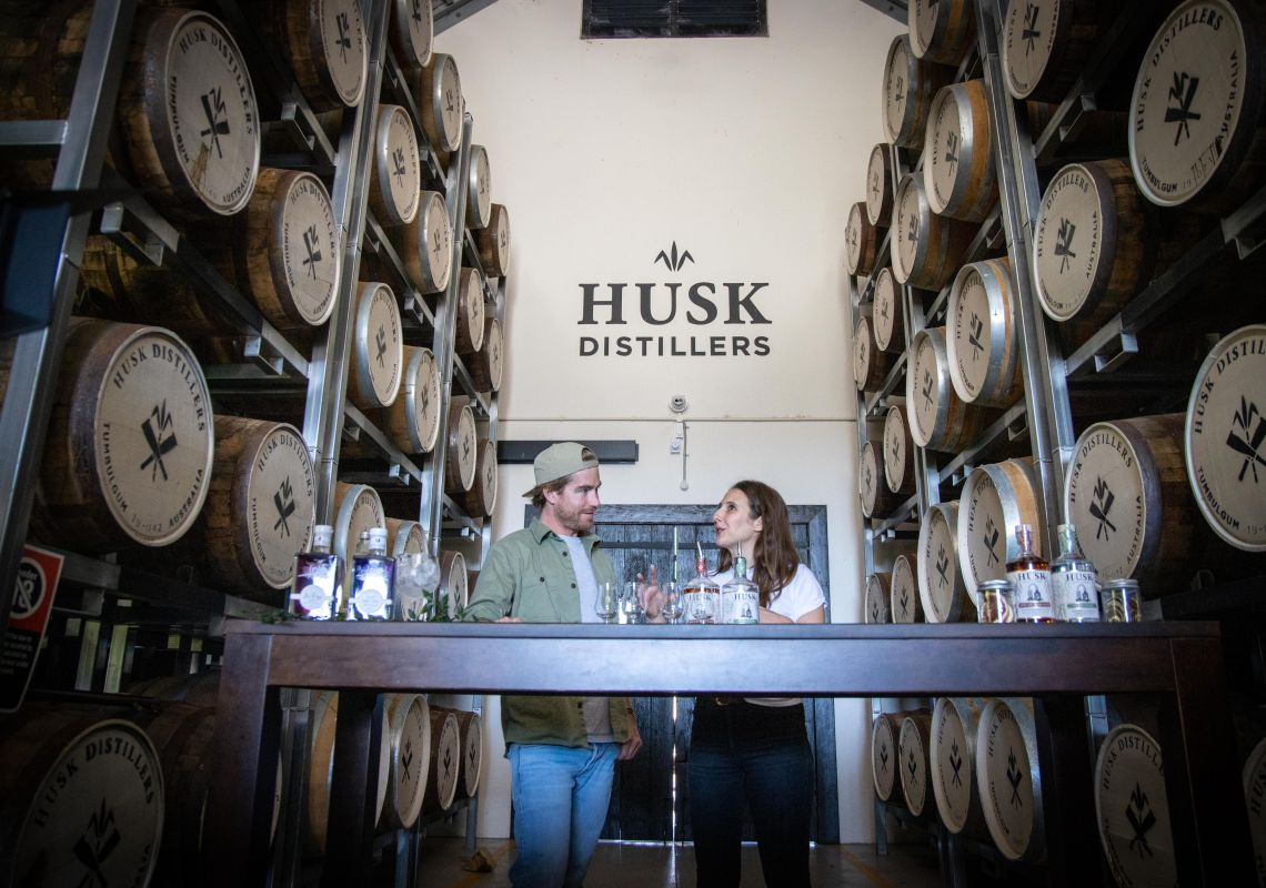 Australian paddock-to-bottle rum at Husk Distillers. Image Credit: Taste of Australia