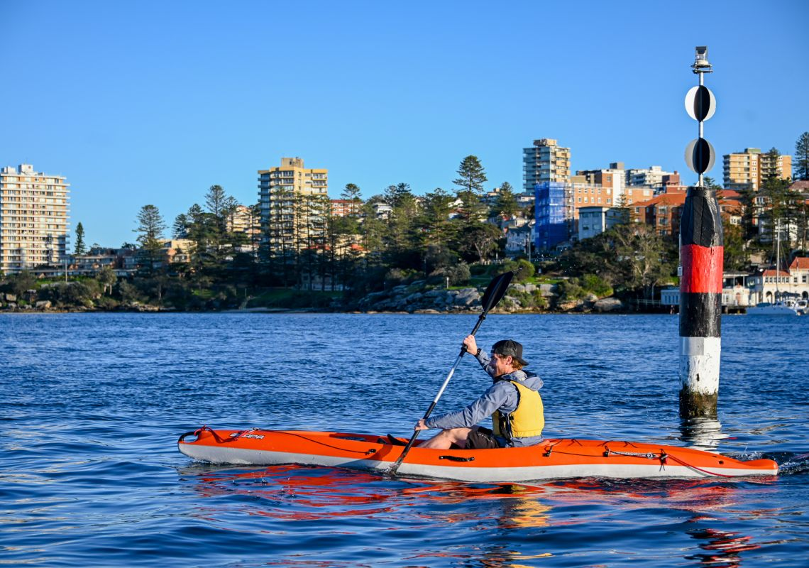 Hire a Kayak from Manly Kayak Centre. Image Credit: Taste of Australia