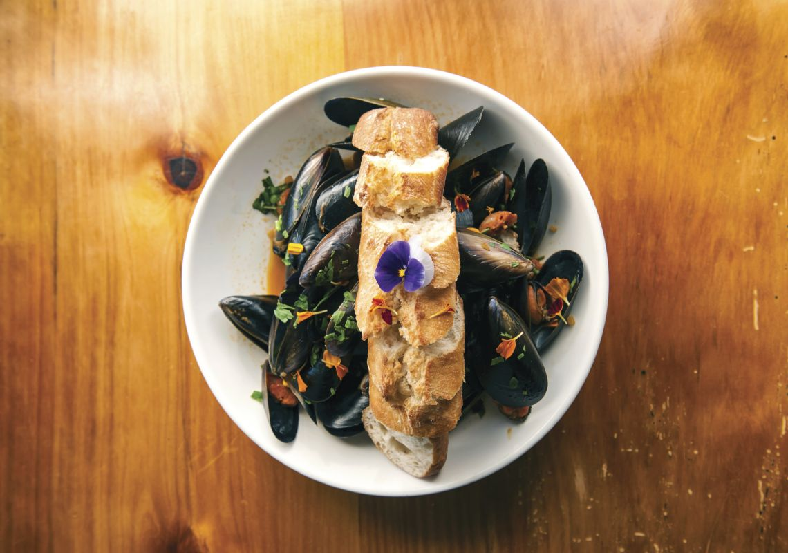 Mussels at Mavis's Kitchen in Uki - Northern Rivers