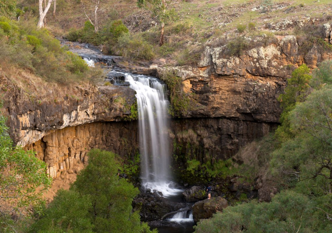 A scenic view over to Paddy River Falls, Tumbarumba