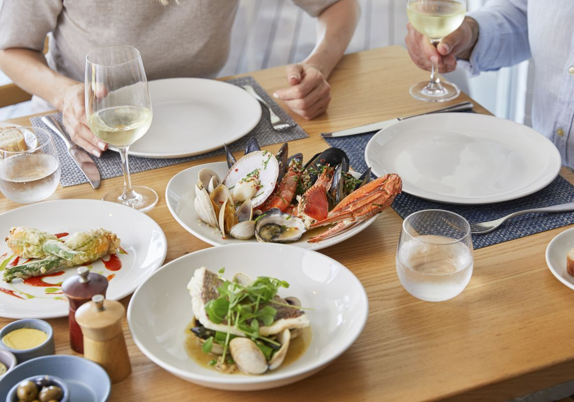 Dishes created with local seafood on the menu at Bannisters by the Sea in Mollymook Beach, Jervis Bay & Shoalhaven