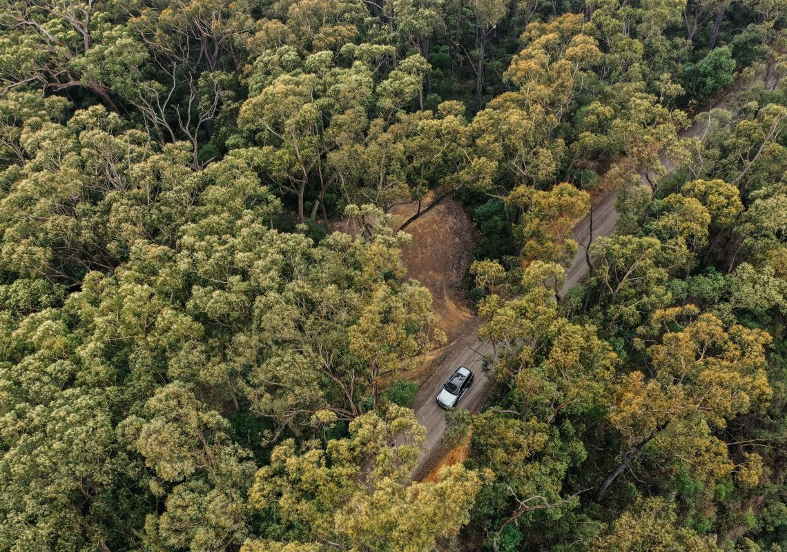 Car driving through the leafy Kangaroo Valley, Jervis Bay & Shoalhaven
