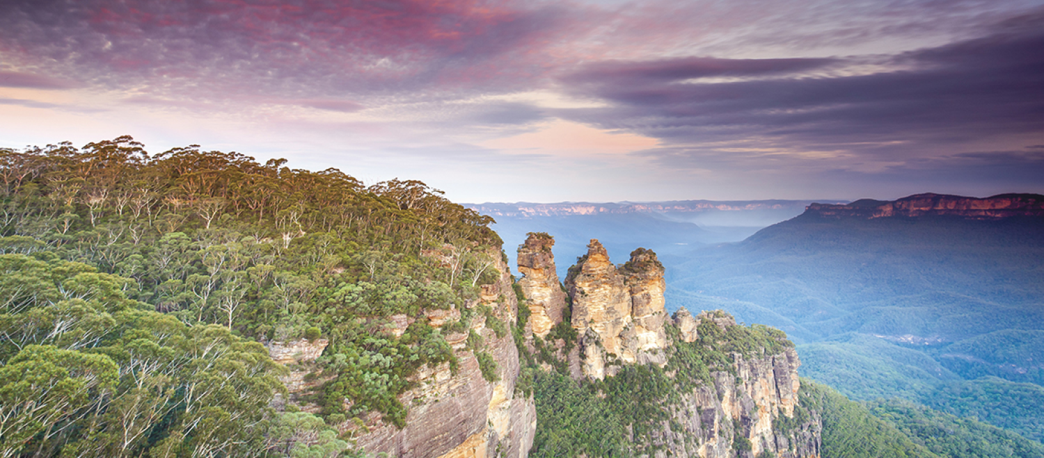 Three Sisters view from Echo Point Lookout in Katoomba - Blue Mountains