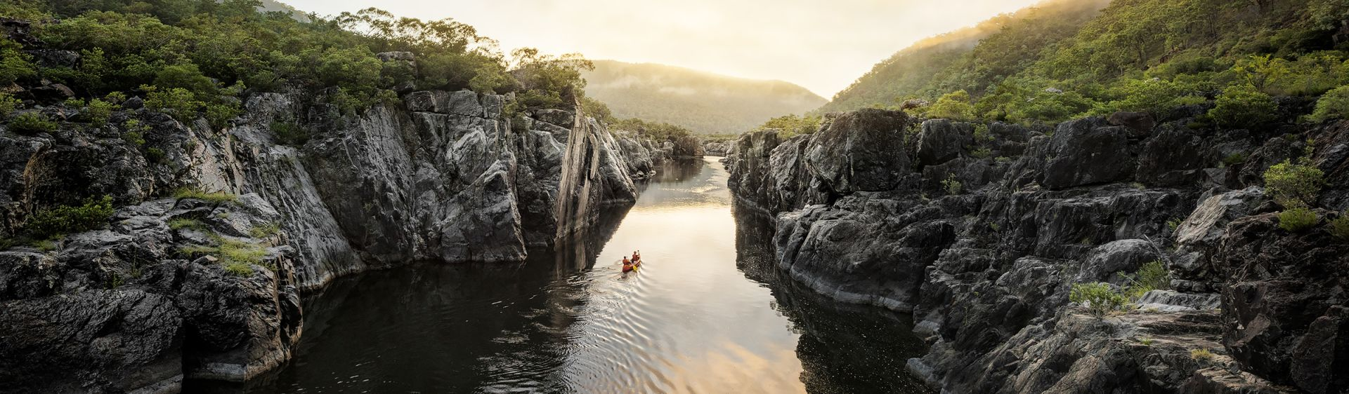 Paddling through the exquisite Clarence Gorge, Clarence Valley